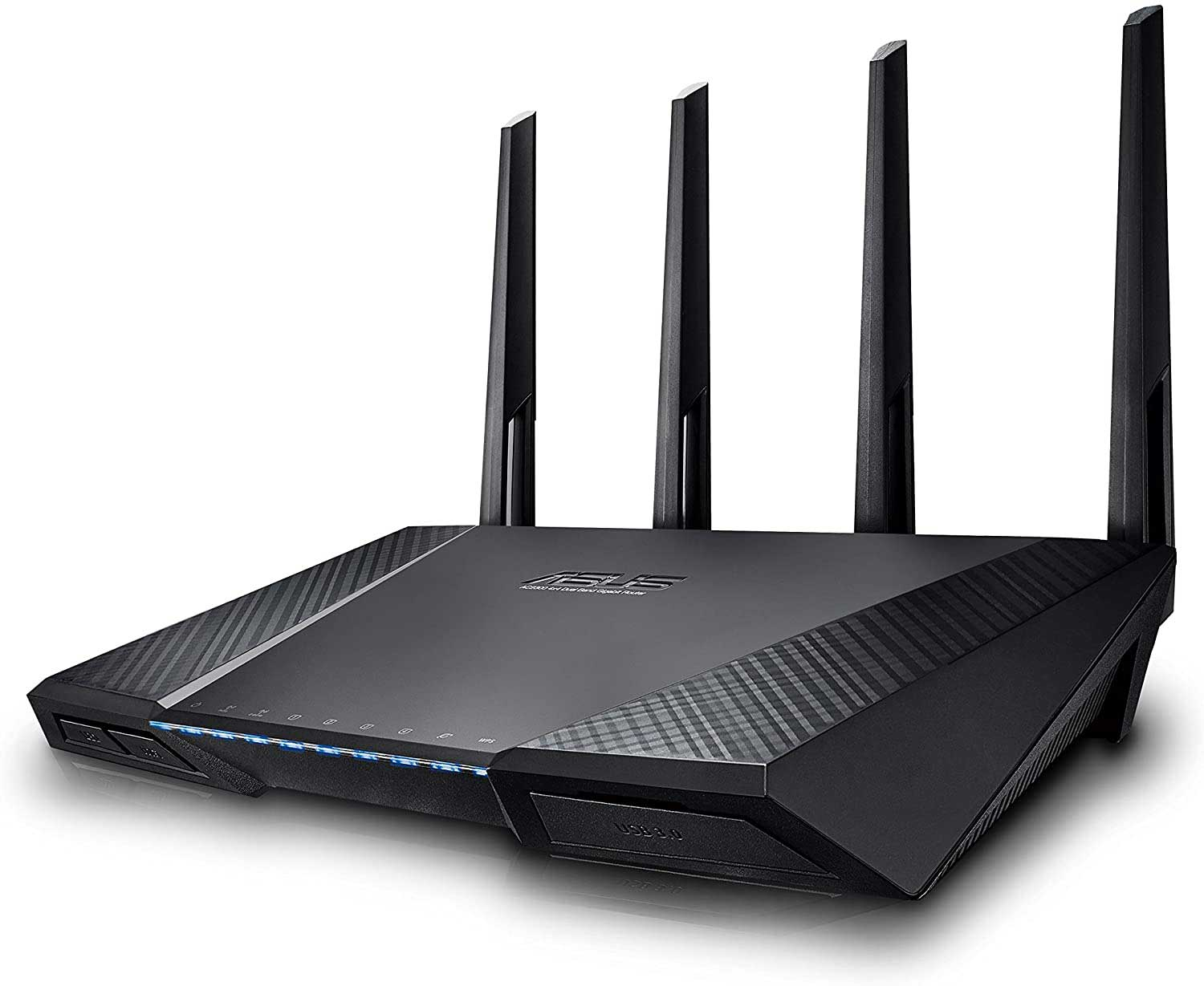 Asus RT-AC88U Gaming Router (Ai Mesh WLAN System, WiFi 5 AC3100, Gaming Engine, 1.4 GHz DC CPU, AiProtection, USB 3.0, Router bis zu 200 m²)